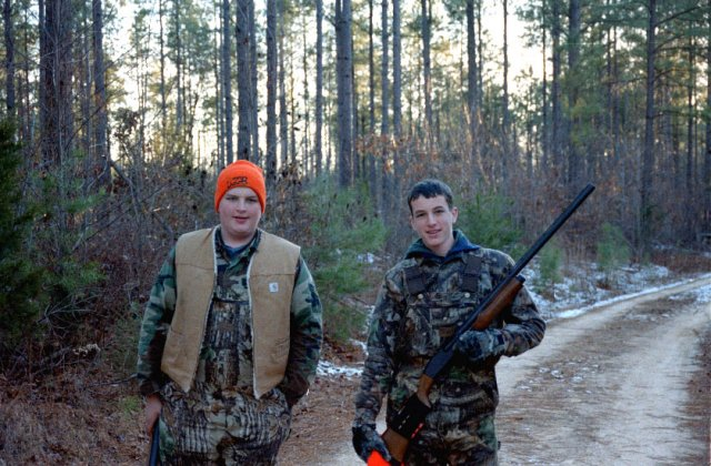 Two nice hunters, along the dirt road just west of the confluence