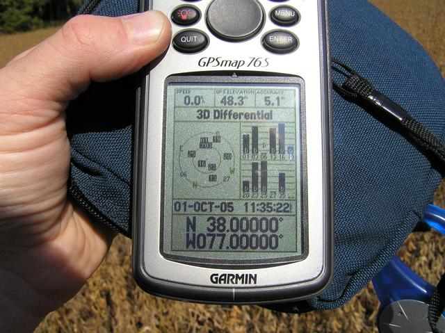 GPS receiver at the confluence.