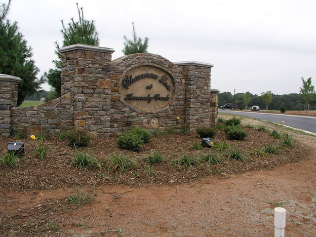 "Left entrance gate to ""Shannon Lea at Kennedy Creek."""