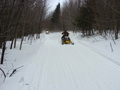 #8: Snowmobilers whiz by with 200 meters of 43N 73W on F.R. 83.