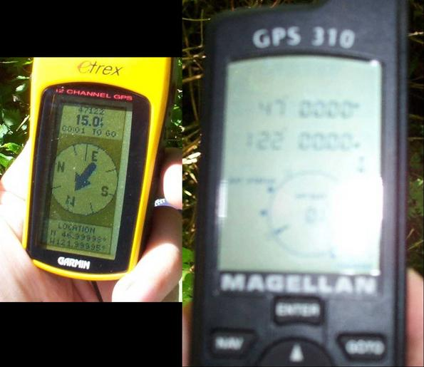 Finally got a close GPS reading.... We then got all zeroes with the other GPS!