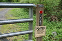 #8: No hunting - posted at the gate of the driveway