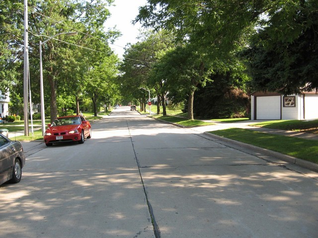 The view south down S. 70th St.