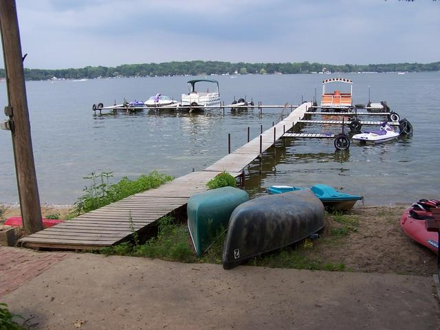 A pier on Lake Ripley near the confluence.