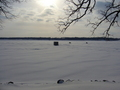 #8: Lake Ripley in winter: snowmobiles instead of boats