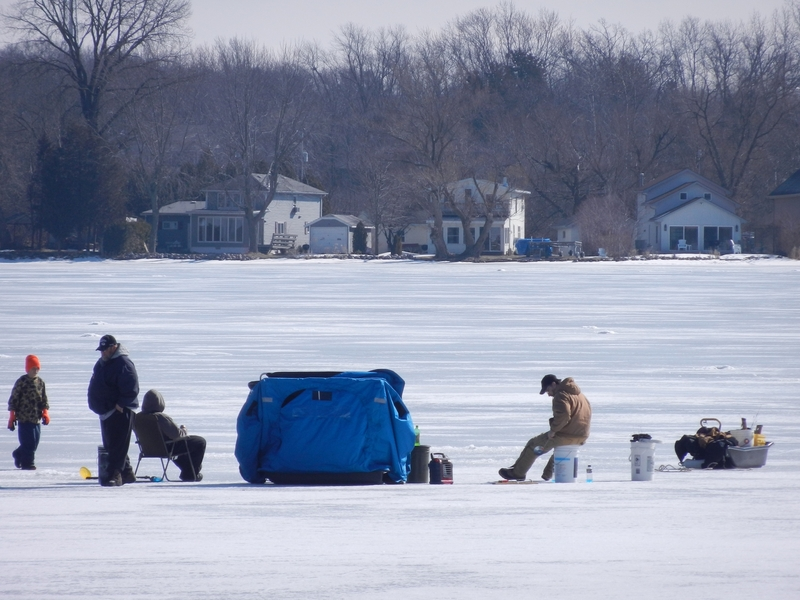 Ice fishing activity