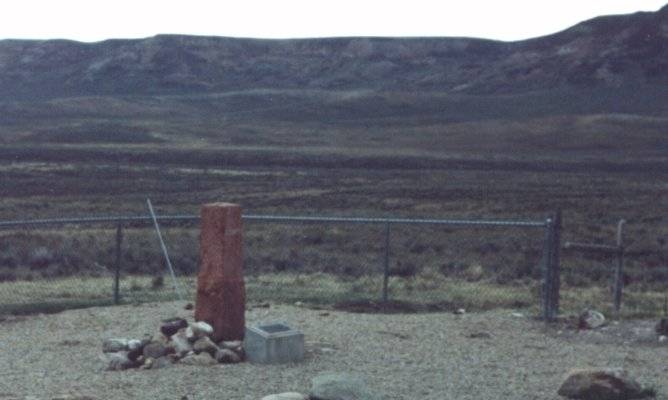 Monument marking SW corner of Wyoming.