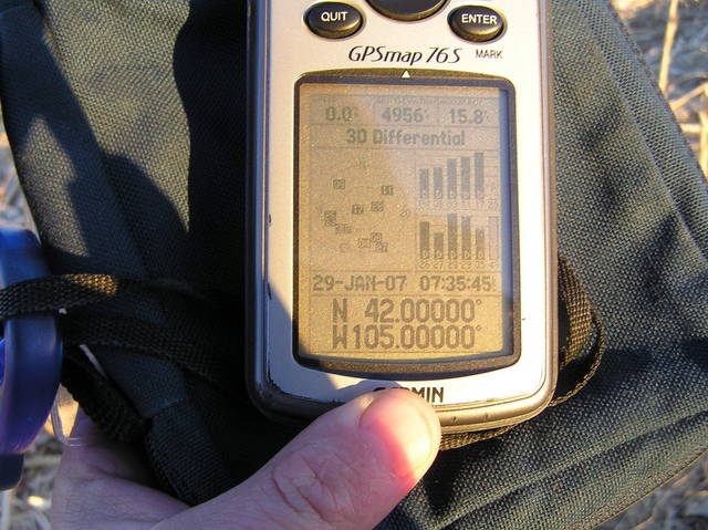 GPS reading from the confluence site.