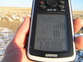 #6: GPS reading at the confluence site.