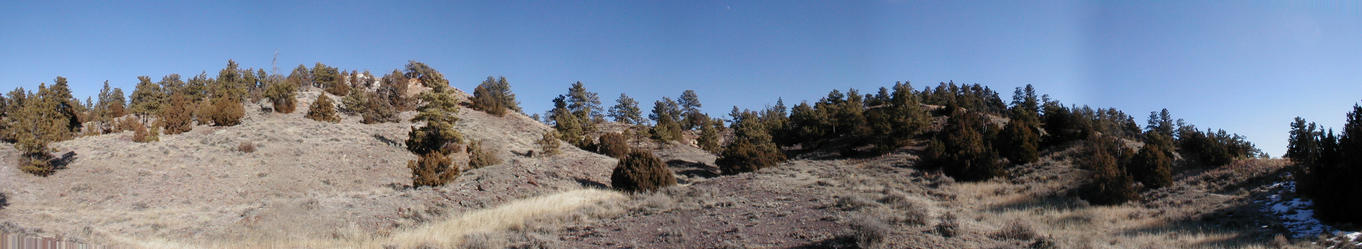 135 degree panorama -- North to Southeast