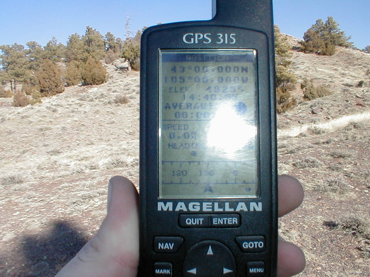 GPS and a view to the north