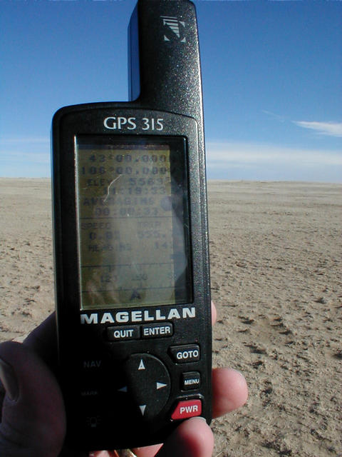 GPS From 43N 106W