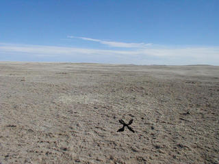#1: X Marks the spot (The wind would have blown away anything I would have put there!)