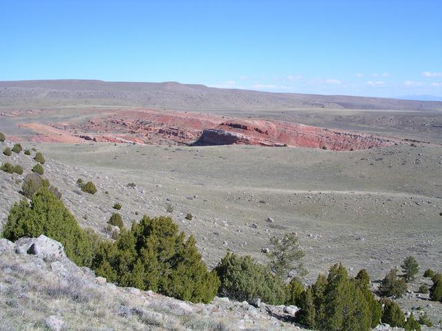 The view to the NNW 449 feet (137 meters) south of the confluence