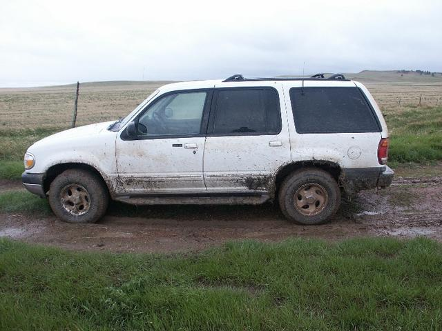 Truck after getting stuck
