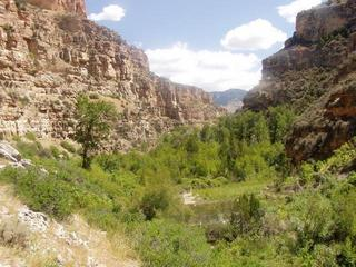 #1: Looking up the canyon to the confluence