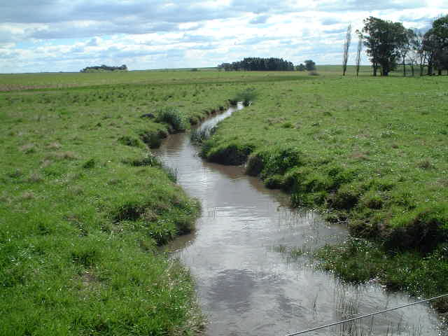 Irrigation canals block the approach