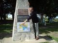 #2: Captain Peter at the 0-km mark monument of Rio Uruguay