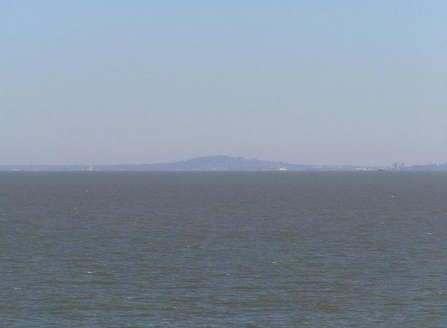 Cerro de Montevideo seen from the Confluence