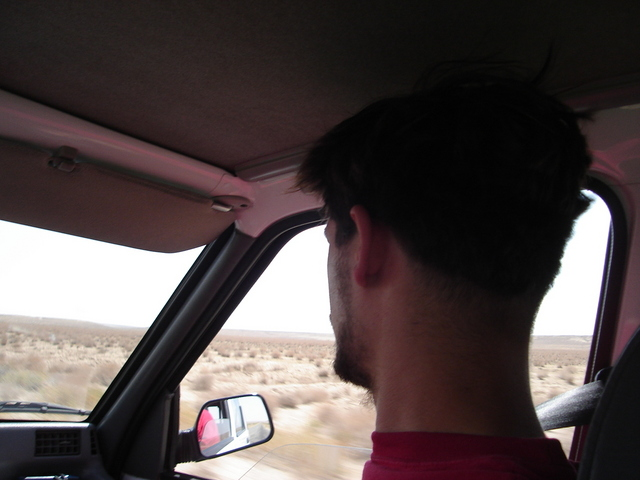 driving through the desert