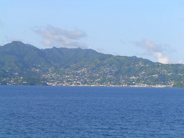 Kingstown, the capital of St. Vincent and the Grenadines