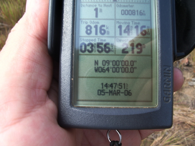 A PICTURE OF GPS AT THE CONFLUENCE POINT