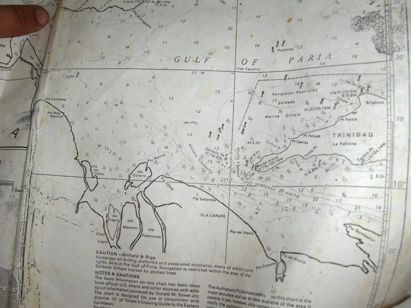 NAUTICAL CHART OF THE AREA