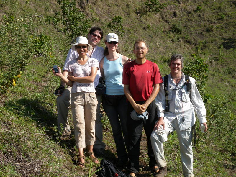 The Confluence Hunters: Elionora, Miguel, Anja, Rainer M. and Rainer B.