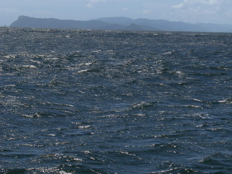 HIGH SEAS ON DRAGON´S MOUTHS. CHACACHACARE, MONO AND TRINIDAD ISLANDS IN THE BACKGROUND
