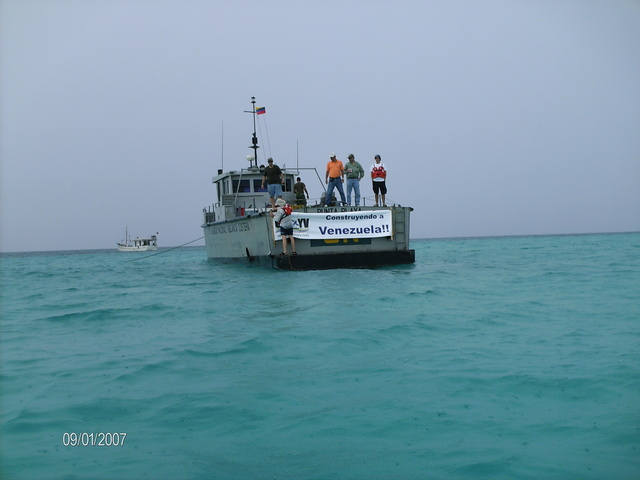 National Guard patrol boat Punta Playa anchored at La Tortuga Island