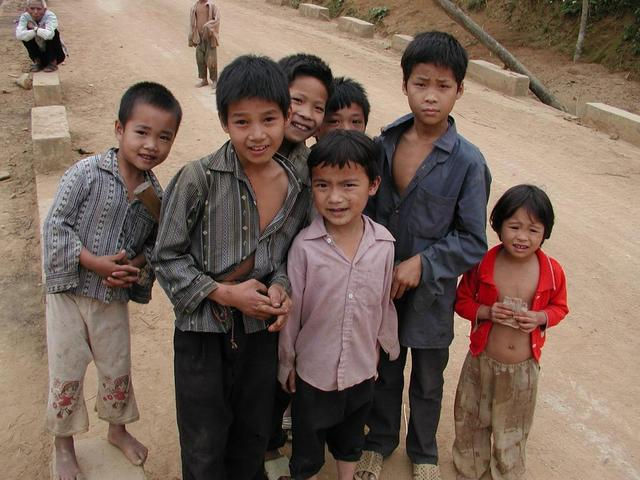 The children of Ngam Bang Village