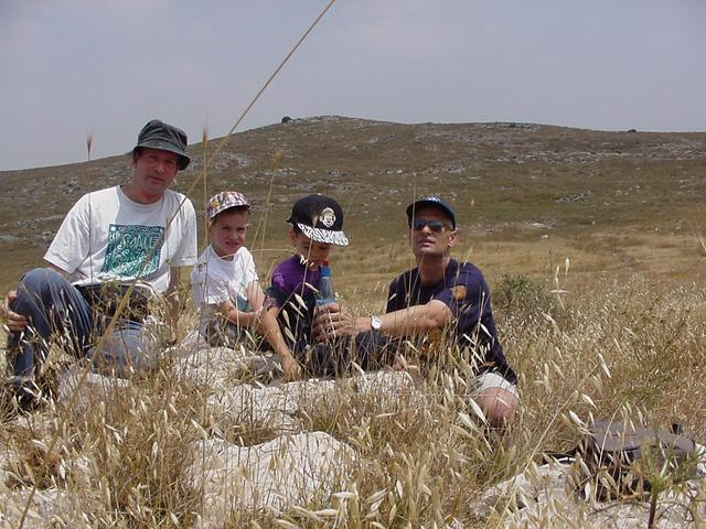 The full hunting party, Ehud, Tal, Omer and Tsvika