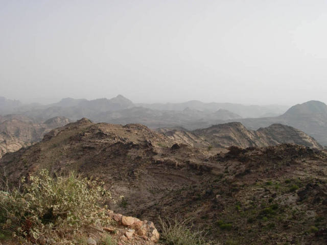 The wild and rugged southern Harāz mountains