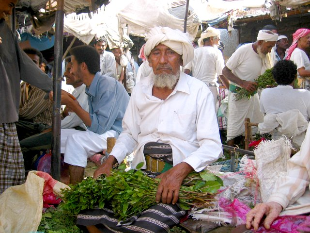 Khat being sold at a marked nearby