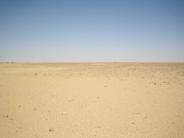 Empty desert facing West