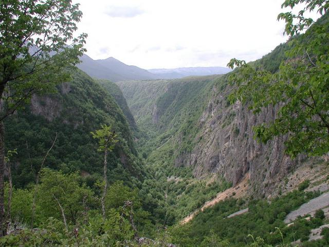 Precipitous Gorge in the Vicinity of 43°N 19°E
