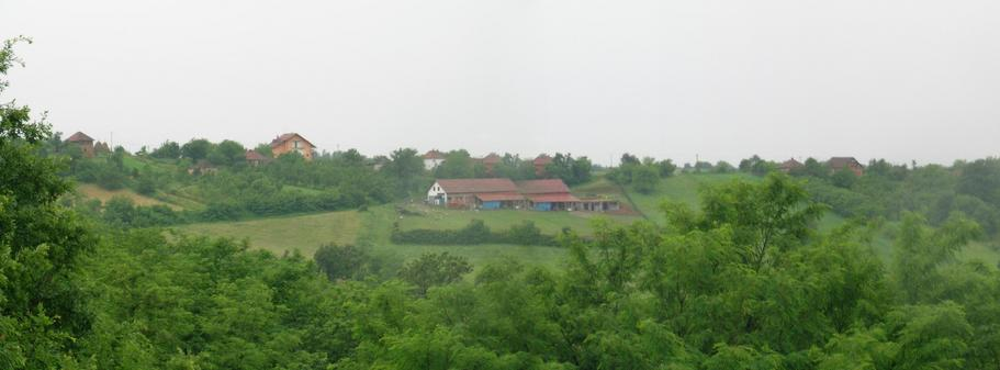 Panoramic view west – North; village of Jabucje