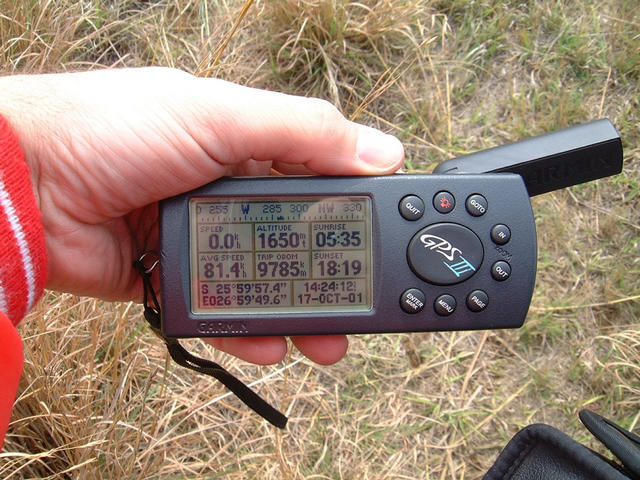 GPS reading while walking away from the Confluence after being prevented from getting to it
