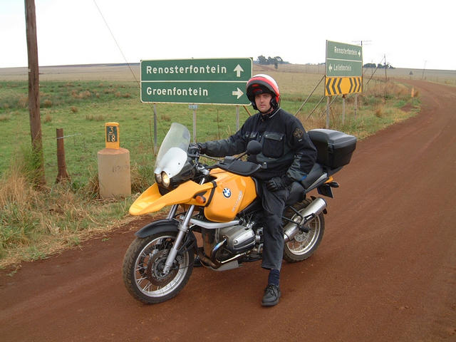 Donald Massyn at the Groenfontein T-junction close to the Confluence