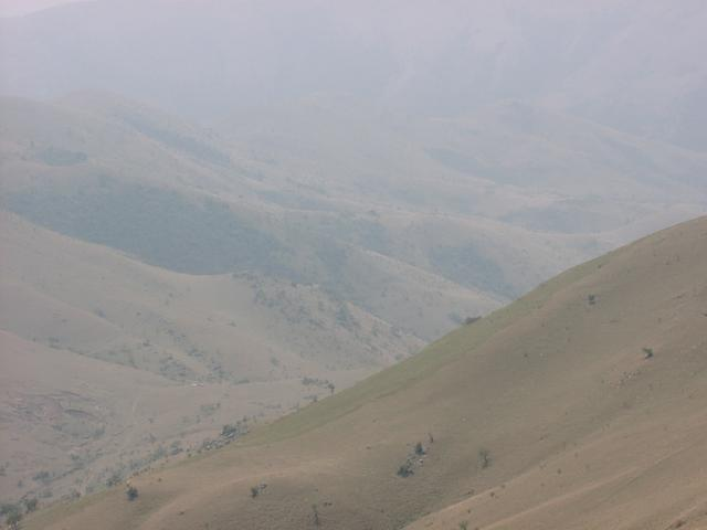 View of vehicles from mountain