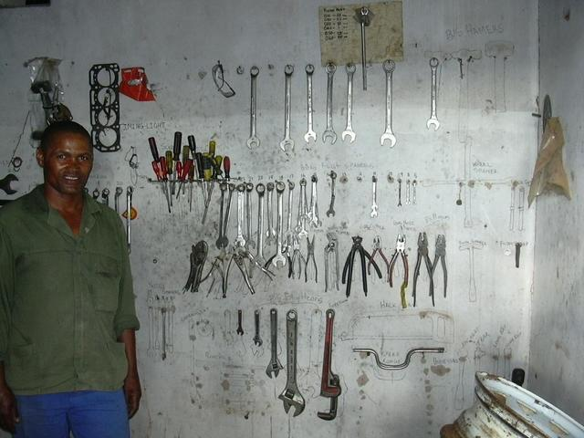 Johannes in his workshop