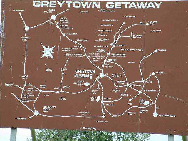The map board at Greytown helped a little