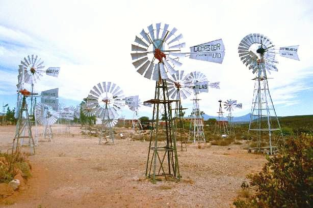 Windmill collection in Museum yard