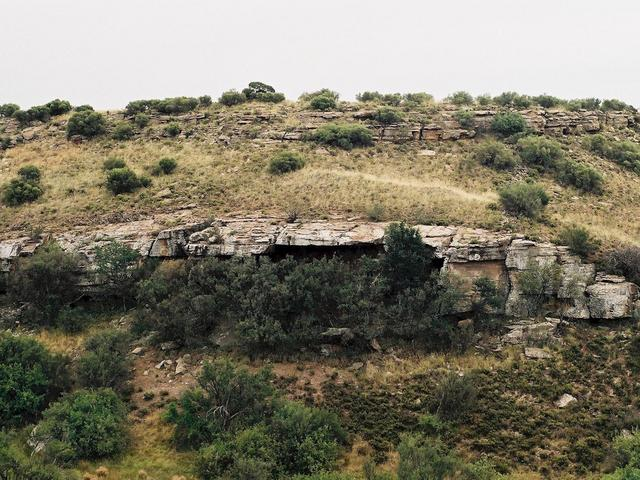 Skilderkrans - Overhang with bushman paintings