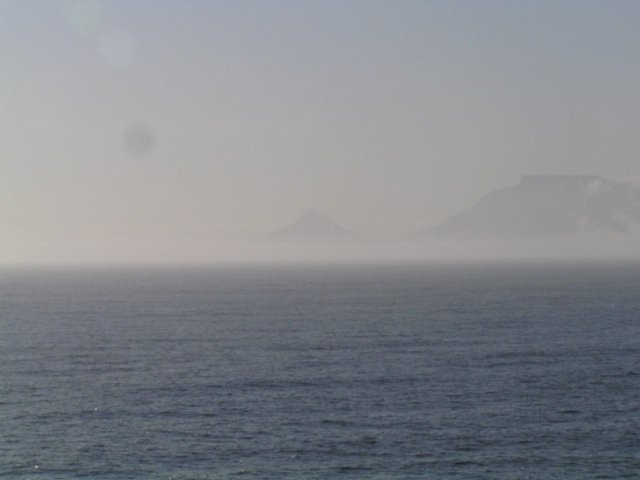 Table Mountain and Lion's Head seen from the Confluence