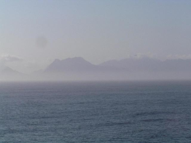 Looking towards the Cape Peninsula from the Confluence