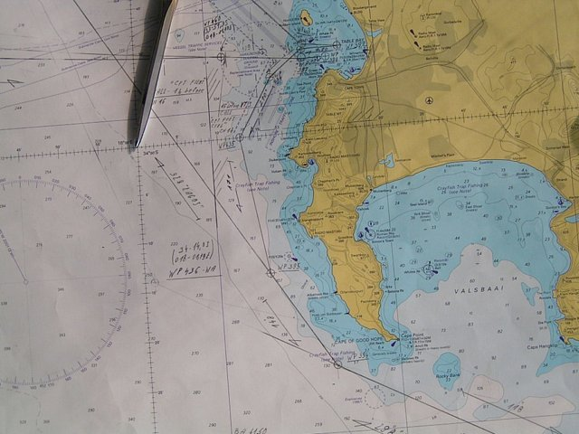 The area on a British Admiralty navigational chart