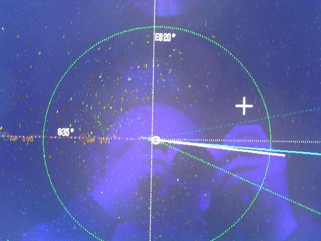 Coordinates grid on the radar with the ship exactly at the Confluence