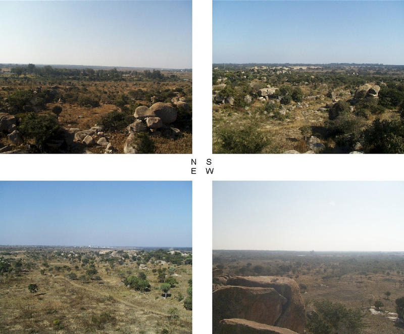 4 Views from the nearby (750 m) trig beacon, Harare to the North and Confluence to the West